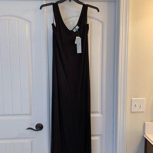 Joan Vass maxi dress, black size medium